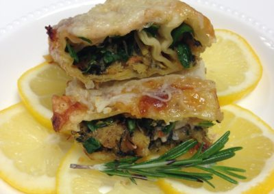 Cannelloni Filled With Saltfish and Spinach