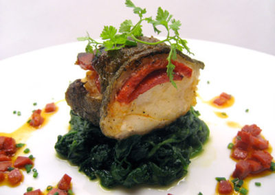 Salt Cod Stuffed With Chorrizo