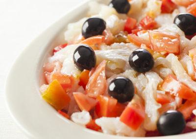 Salted Cod & Black Olive Salad