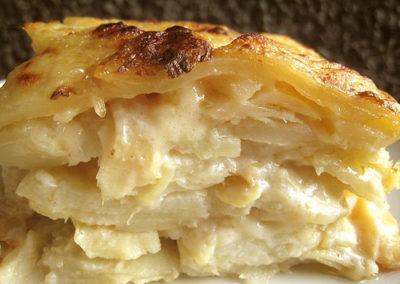 Saltfish Potatoes au Gratin
